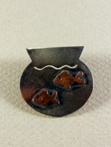 two goldfish brooch