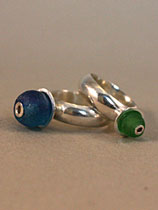 glass bead rings